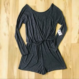Charlotte Russe Gray Romper Size M Medium New NWT